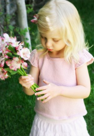 Never Not Knitting Patterns - Spring Garden Tee - Child Pattern