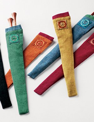Lantern Moon Silk Needle Sleeves - Embroidered Silk Needle Sleeves - Assorted Colors