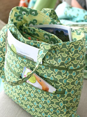 Amy Butler Hampton Bag Olive Celery