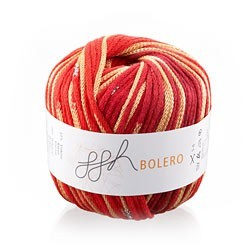 GGH Bolero Yarn - 1 Red-Orange Multi