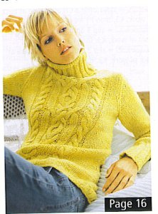 GGH Savanna Sweater with Cable Patterns Kit - Women's Pullovers