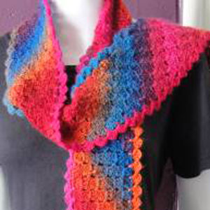 Crystal Palace Mini Mochi Diagonal Blocks Crocheted Scarf Kit - Crochet for Adults