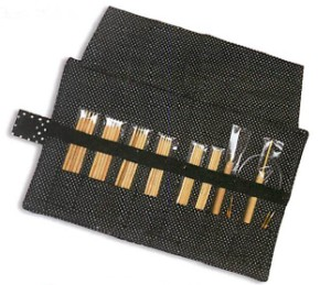 KA Miniature Bamboo Needle Set Needles - Black Dot (23846) Needles