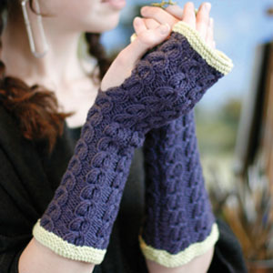 Rowan Belle Organic DK Sycamore Fingerless Mitts Kit - Women's Accessories