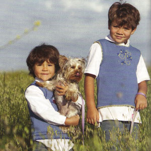 Blue Sky Alpacas Skinny Cotton Breath of Heaven Vest Kit - Baby and Kids Vests