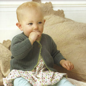 Debbie Bliss Baby Cashmerino Ribbon-Edged Cardigan Kit - Baby and Kids Cardigans