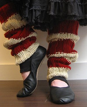 KnitWhits Patterns - Stage Left Leg Warmers Pattern