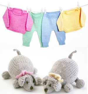 Knitting at Knoon Patterns - Jammies with PJ Puppy Pattern