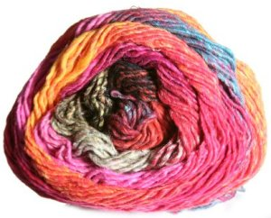 Noro Taiyo Yarn - 17 Orange/Red/Grey (Discontinued)