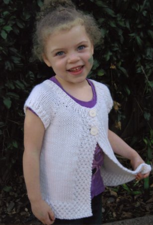 Knitting Pure and Simple Baby & Children Patterns - 0106 - Girls Cap Sleeve Cardi Vest Pattern