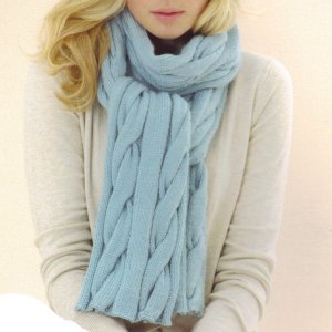 Sublime Cashmere Merino Silk DK Snow Queen Scarf Kit - Scarf and Shawls