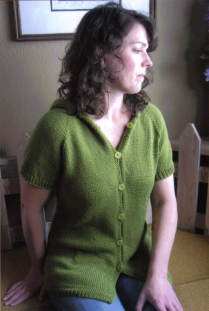 Knitting Pure and Simple Summer Sweater Patterns - 102 - Short Sleeved Hoodie Pattern
