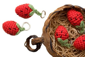 Lantern Moon Stitch Markers - Strawberry