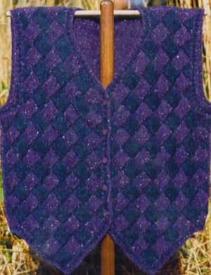 Oat Couture Patterns - Entrelac Tuxedo Vest Pattern