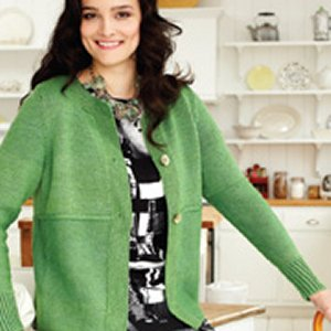Lorna's Laces Shepherd Worsted Three-Button Cardi Kit - Women's Cardigans