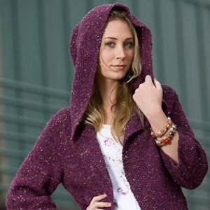 Tahki Stacy Charles Donegal Tweed Alexandra Hoodie Kit - Women's Cardigans