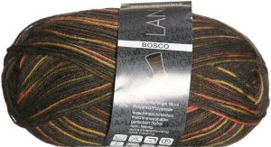 Lana Grossa Meilenweit Sock Yarn - Bosco 3512 Brown/Mustard