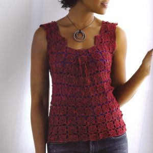 Lorna's Laces Helen's Lace Serene Box Pleat Top Kit - Women's Sleeveless