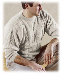 Blue Sky Fibers Men's Cable Kit - Mens Sweaters