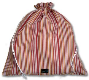 della Q Eden Cotton Project Bag (115-2) - z077 Orange/Yellow Stripe (Discontinued)