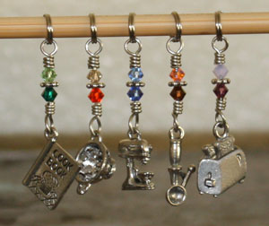 Victoria S Beaded Stitch Markers - zEverything but the Kitchen Sink