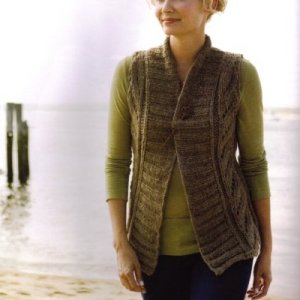 Tahki Montana Montague Bulky Lace Vest Kit - Vests