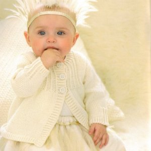 Sublime Baby Cashmere Merino Silk DK Little Vintage Smock Coat Kit - Baby and Kids Cardigans