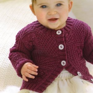 Sublime Baby Cashmere Merino Silk DK Little Sampler Cardie Kit - Baby and Kids Cardigans