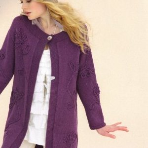 Sublime Cashmere Merino Silk DK Rococo Coat Kit - Women's Cardigans