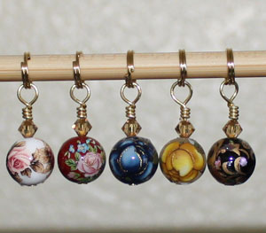 Victoria S Beaded Stitch Markers - My Mother's Garden