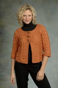 Plymouth Baby Alpaca Grande Tweed Sweater Kit - Women's Cardigans
