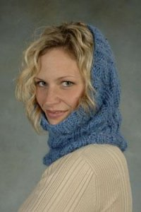 Plymouth Baby Alpaca Grande Cabled Cowl Kit - Scarf and Shawls