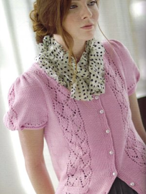 Cascade Venezia Worsted Kimberly Cardigan Kit - Women's Cardigans