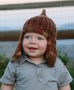 Misti Alpaca Landscape Collection Huck's Earflap Hat Kit - Hats and Gloves