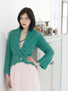 Stitch Nation Bamboo Ewe Filigree Cardigan Kit - Crochet for Adults