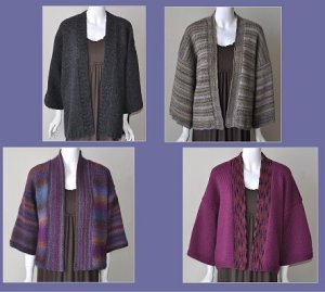 Ann Norling Patterns - 70 - Kimono in Multi Gauges Pattern