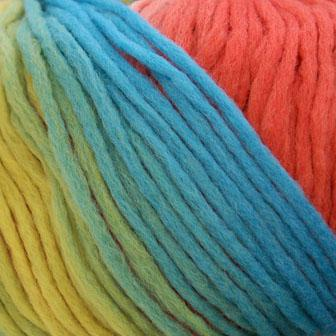 Zitron Loft Color Yarn - 909 Yellow, Green and Blue