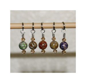 Victoria S Beaded Stitch Markers - zBella's Dream