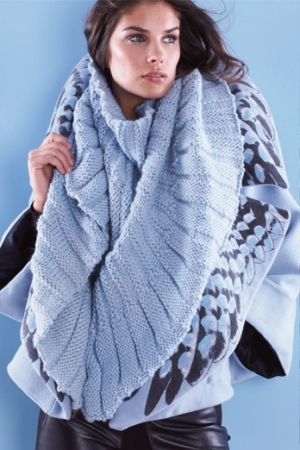 Rowan Big Wool Welted Scarf Kit - Women's Accessories