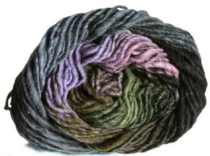 Noro Kureyon Yarn - 258 Black/Olive/Lavender (Discontinued)