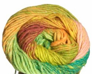 Noro Kureyon Yarn - 270 Orange/Lime/Jade/Pumpkin (Discontinued)