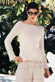 Tahki Cotton Classic Boatneck Pullover Kit - Women's Pullovers