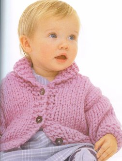 Rowan Big Wool Dumpling Kit - Baby and Kids Cardigans