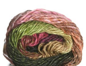 Noro Silk Garden Yarn - 309 Black, Orange, Lime