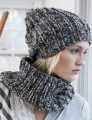 Tahki Montana Marble Hat and Cowl Kit