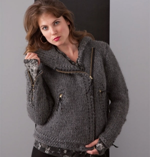 Nashua Creative Focus Bulky Chicago Sweater Jacket Kit - Women's Cardigans