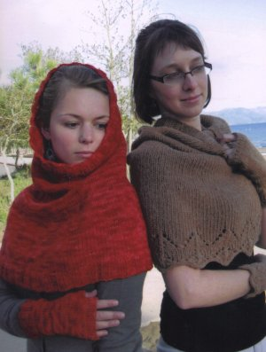 Knitting Pure and Simple Women's Patterns - 108 - Scarf/Hood and Wrist Warmers Pattern