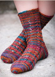 Mountain Colors Patterns - Yuba River Socks Pattern