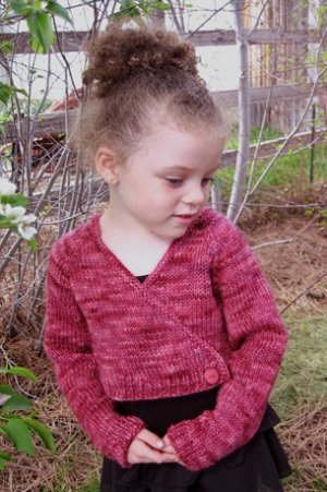 Knitting Pure and Simple Baby & Children Patterns - 0109 - Girl's Ballet Cardigan Pattern