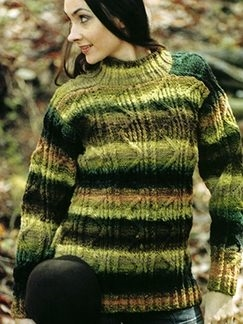 Noro Kureyon Ladies Zig Zag Sweater Kit - Women's Pullovers